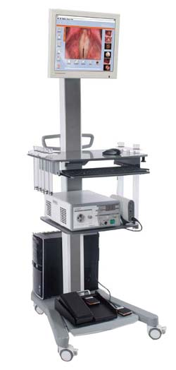 Equipment Cart with Stroboscope and PC