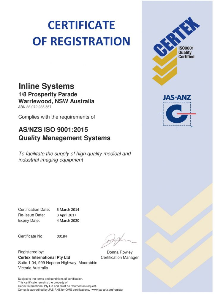 iso 9001 certificate certification management systems company inline certified system medical